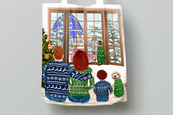 Christmas Family Clipart Matching Sweaters Graphic Downloadable Digital File
