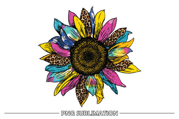 Print on Demand: Colorful Sunflower Sublimation Design Graphic Crafts By FauzIDEAStudio