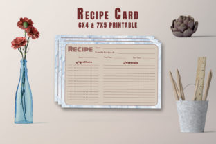 Print on Demand: Creative Recipe Card Template V24 Graphic Print Templates By Creative Tacos