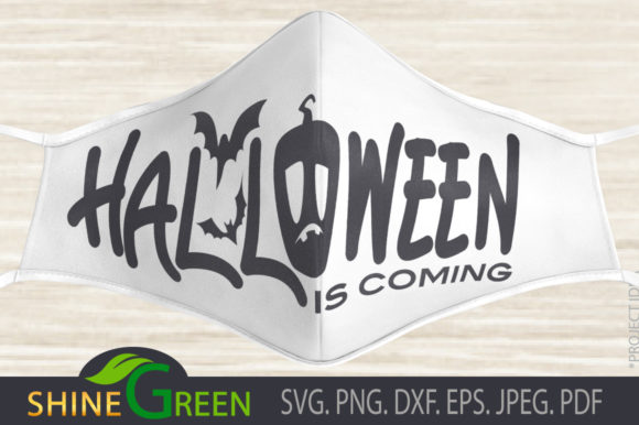 Print on Demand: Face Mask - Halloween is Coming Graphic Crafts By ShineGreenArt