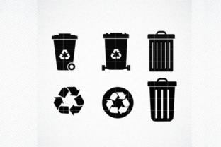 Print on Demand: Garbage and Recycle Set  Graphic Crafts By SVG DEN