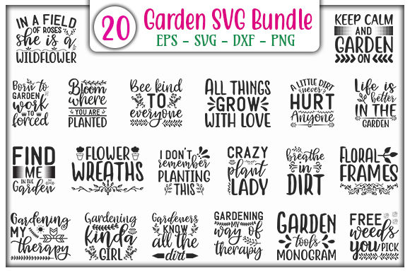 Print on Demand: Garden Design Bundle Graphic Print Templates By GraphicsBooth