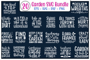Print on Demand: Garden Quotes Design Bundle Graphic Print Templates By GraphicsBooth