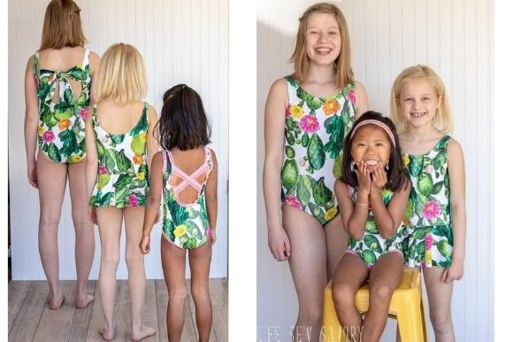 Girls Swim Suit Graphic Sewing Patterns By lifesewsavory