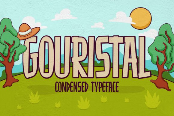 Print on Demand: Gouristal Display Font By brithostype