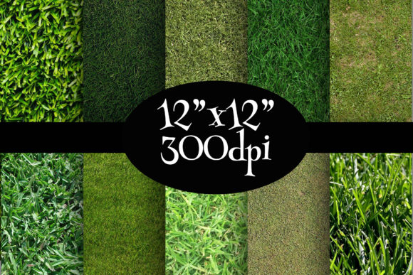 Print on Demand: Grass Textures Digital Paper Pack Graphic Backgrounds By Party Pixelz
