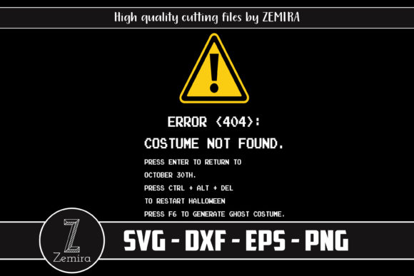 Print on Demand: Halloween Costume Not Found  Graphic Print Templates By Zemira