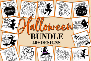 Print on Demand: Halloween Clipart Cut Files Bundle Graphic Crafts By freelingdesignhouse
