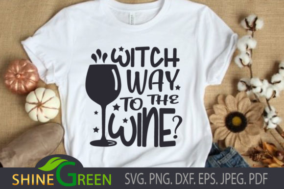 Print on Demand: Halloween Witch Way Quote Graphic Crafts By ShineGreenArt