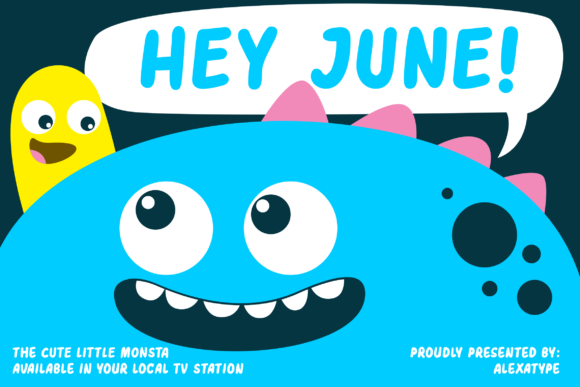 Print on Demand: Hey June Display Font By alexatypefoundry