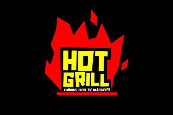 Print on Demand: Hot Grill Display Font By alexatypefoundry