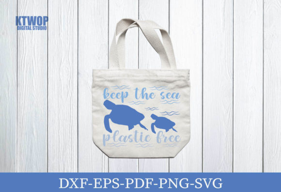 Print on Demand: Keep the Sea Plastic Free Graphic Crafts By KtwoP