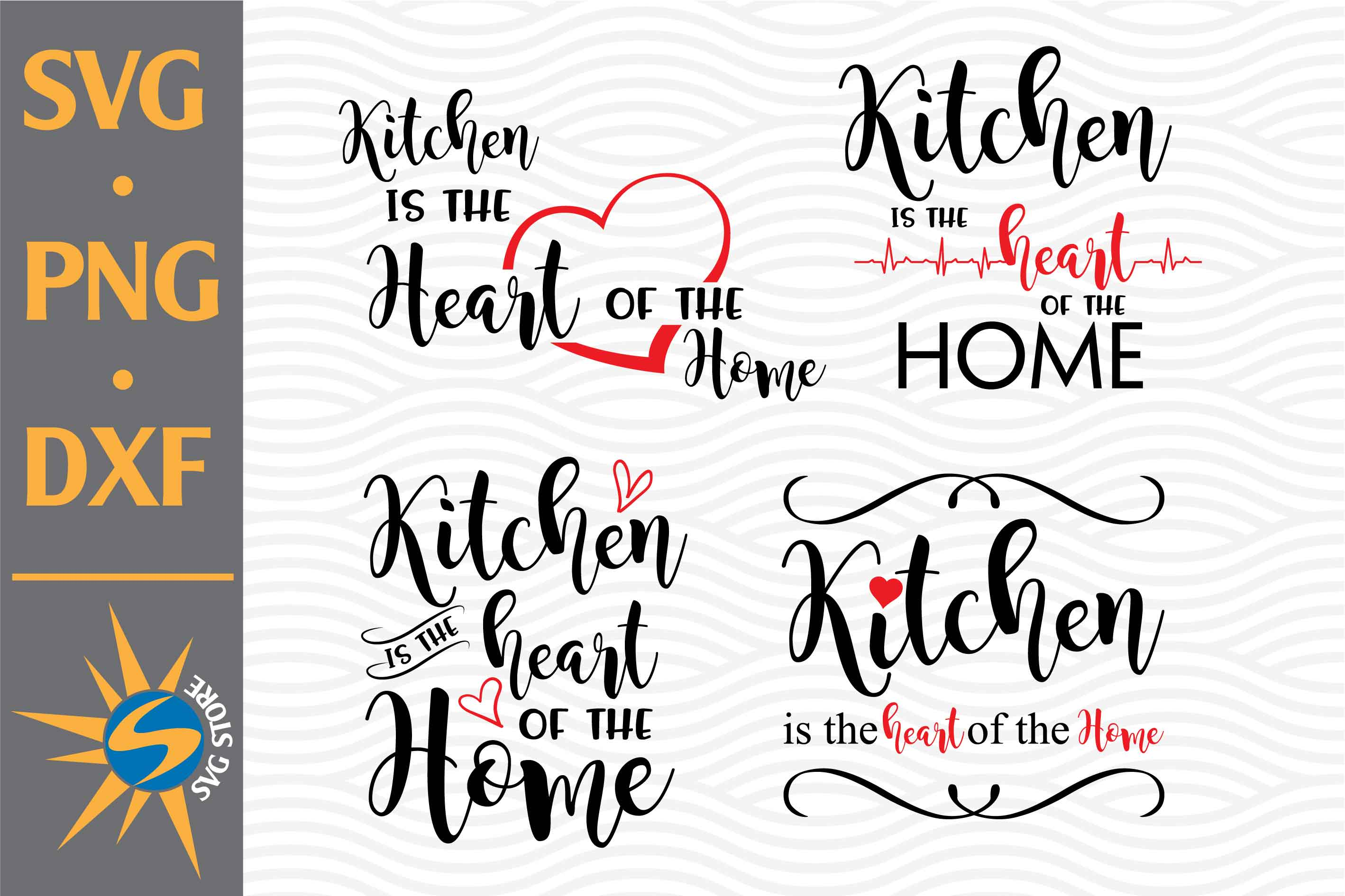 Kitchen Is Heart Of Home Graphic By Svgstoreshop Creative Fabrica