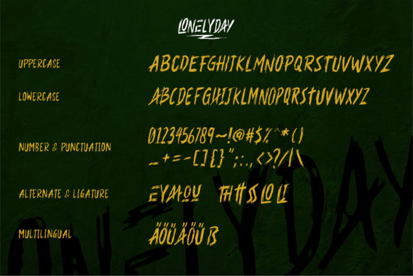 Lonelyday Font Image