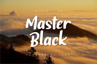 Print on Demand: Master Black Script & Handwritten Font By Productype