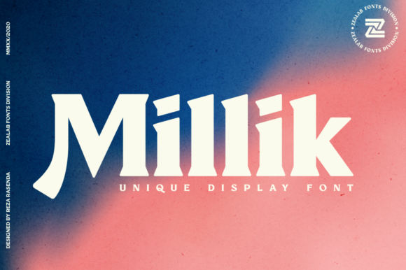 Print on Demand: Millik Display Font By zealab fonts division