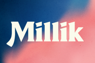 Print on Demand: Millik Display Font By zealab fonts division 11