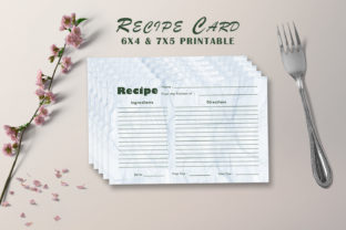 Print on Demand: Modern Recipe Card Template V23 Graphic Print Templates By Creative Tacos