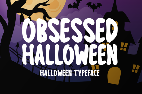 Print on Demand: Obsessed Halloween Display Font By Seemly Fonts