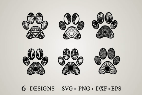 Paw Mandala Bundle Graphic Print Templates By Euphoria Design