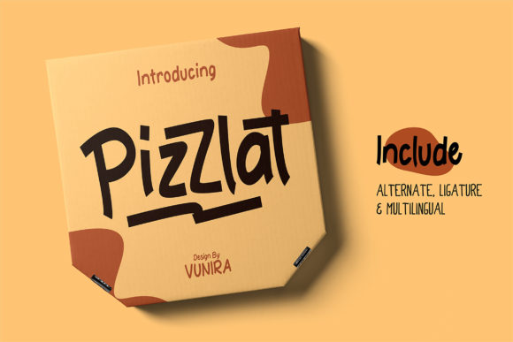 Print on Demand: Pizzlat Display Font By Vunira
