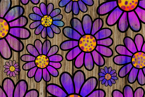 Pretty Doodle Daisy Flower Overlays Graphic Download
