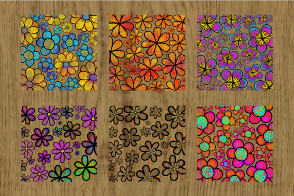 Pretty Doodle Daisy Flower Overlays Graphic Preview