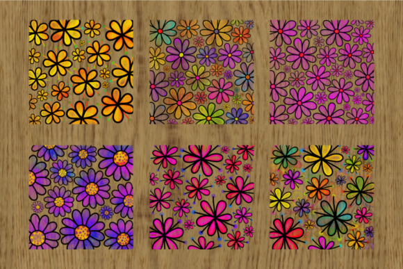 Pretty Doodle Daisy Flower Overlays Graphic Image