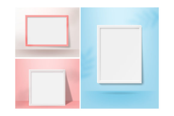 Print on Demand: Realistic Vertical Blank Picture Frame Graphic Product Mockups By iop_micro