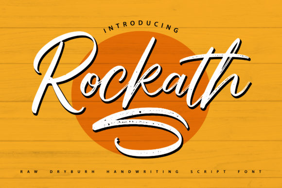 Print on Demand: Rockath Script & Handwritten Font By Vunira