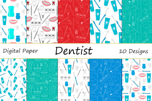 Seamless Patterns Dentist Dentistry Graphic Patterns By shishkovaiv