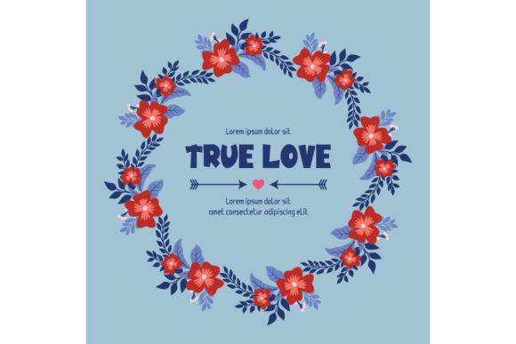 Seamless True Love Greeting Card Design Graphic Backgrounds By stockfloral