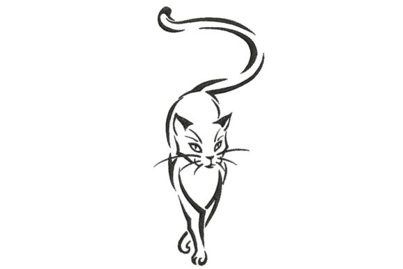Sexy Feline Cats Embroidery Design By BabyNucci Embroidery Designs