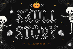 Print on Demand: Skull Story Display Font By Lettersiro Co.