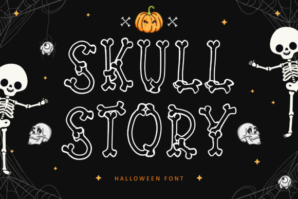 Print on Demand: Skull Story Display Fuente Por Lettersiro Co.