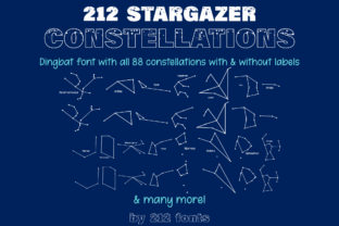 Print on Demand: Stargazer Constellations Dingbats Font By 212 Fonts
