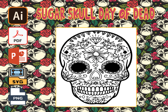 Print on Demand: Sugar Skull Day of the Dead Coloring V16 Graphic Coloring Pages & Books Adults By Tatus Brinal