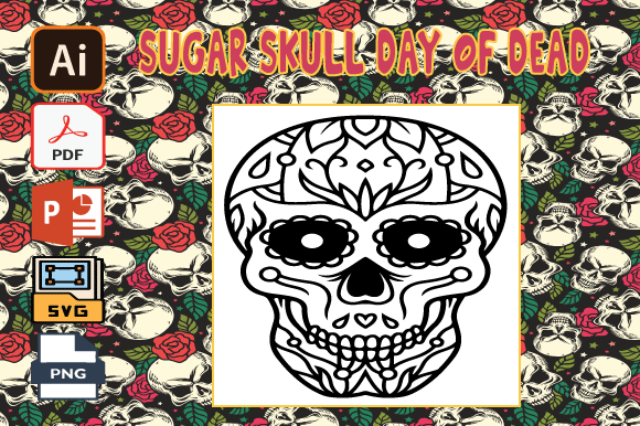 Print on Demand: Sugar Skull Day of the Dead Coloring V23 Graphic Coloring Pages & Books Adults By Tatus Brinal