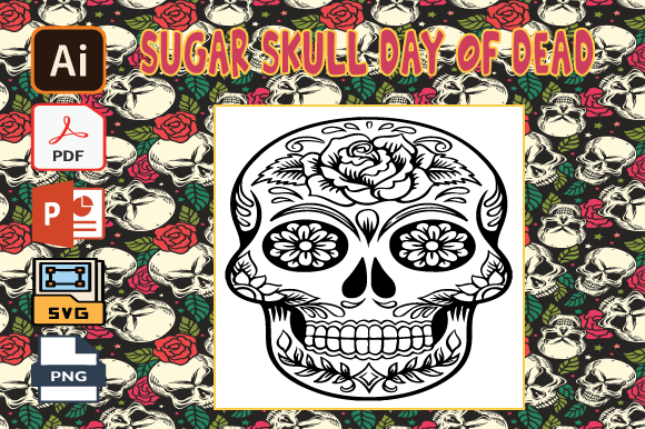 Print on Demand: Sugar Skull Day of the Dead Coloring V27 Graphic Coloring Pages & Books Adults By Tatus Brinal