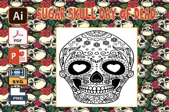 Print on Demand: Sugar Skull Day of the Dead Coloring V30 Graphic Coloring Pages & Books Adults By Tatus Brinal