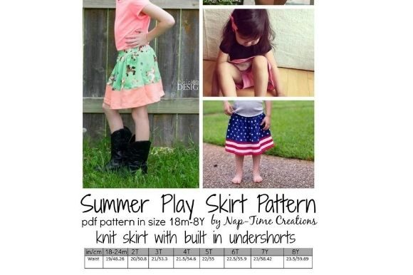 Summer Play Skirt Graphic Item