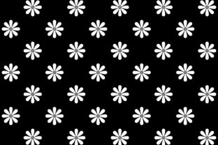 Sunflower on Black Background Graphic Patterns By asesidea