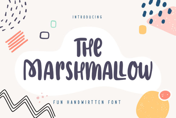 Print on Demand: The Marshmallow Display Font By Vunira