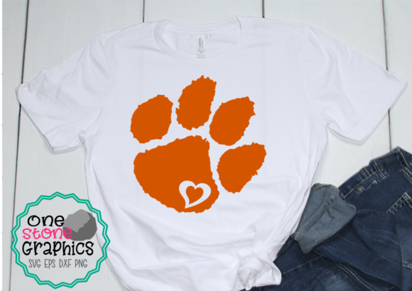 Tiger Paw Graphic Crafts By OneStoneGraphics
