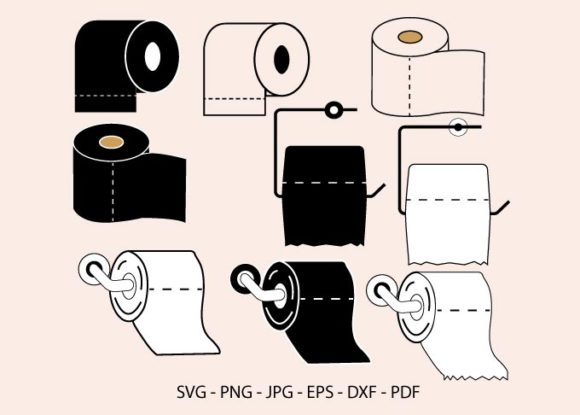 Toilet Paper Shortage, Toilet Paper Graphic Crafts By RedCreations
