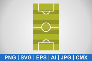 Print on Demand: Vector Football Field Icon Gráfico Iconos Por IYIKON