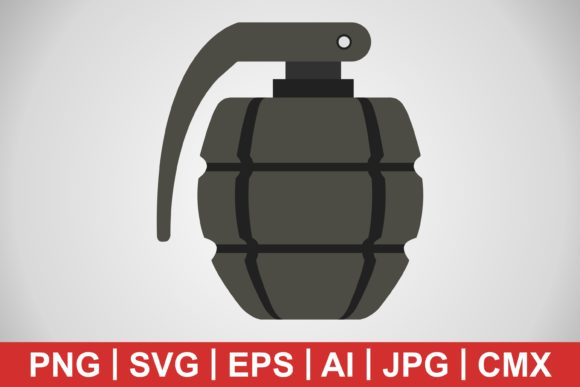 Print on Demand: Vector Grenade Icon Graphic Icons By IYIKON