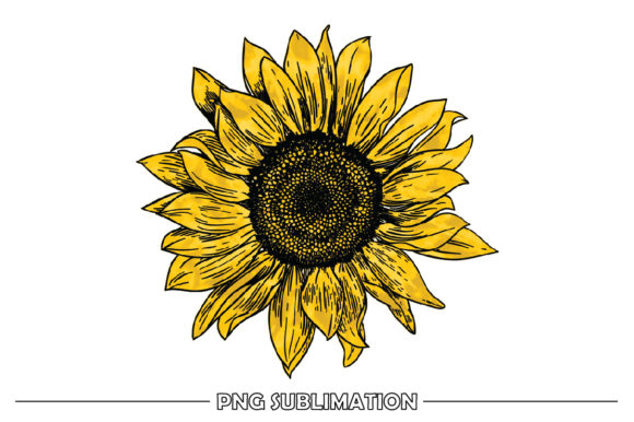 Print on Demand: Vintage Yellow Sunflower Sublimation Graphic Crafts By FauzIDEAStudio