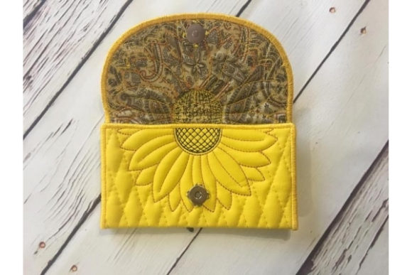 Wallet in the Hoop Embroidery Preview