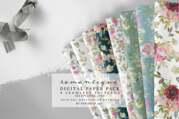 Watercolor Seamless Patterns Collection Graphic Patterns By Patishop Art
